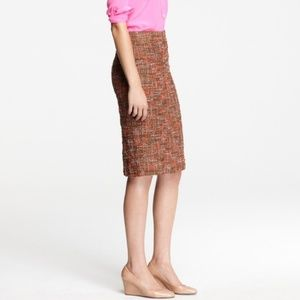J. Crew Textured Multicolor The Pencil Skirt